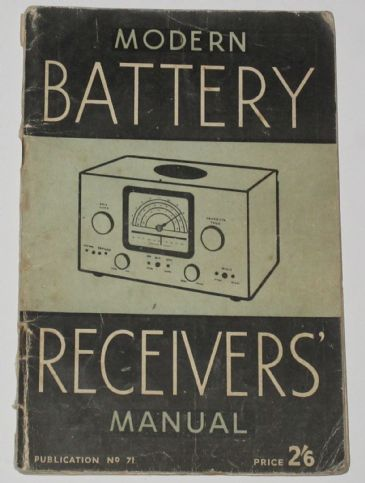 Modern Battery Receivers Manual, by Edwin N. Bradley
